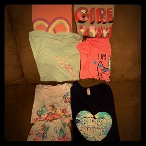 Large lot of girl's Justice clothes size 18/20.
